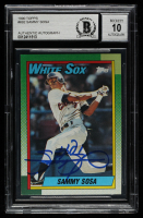 Sammy Sosa Signed 1990 Topps #692 RC (BGS Encapsulated) at PristineAuction.com