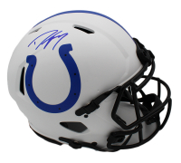 Dwight Freeney Signed Colts Full-Size Authentic On-Field Lunar Eclipse Alternate Speed Helmet (Radtke COA) at PristineAuction.com