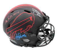 Jim Kelly, Thurman Thomas & Andre Reed Signed Bills Full-Size Authentic On-Field Eclipse Alternate Speed Helmet with (3) Inscriptions (Radtke COA) at PristineAuction.com