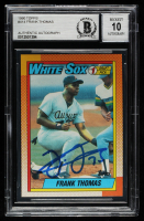 Frank Thomas Signed 1990 Topps #414 RC (BGS Encapsulated) at PristineAuction.com