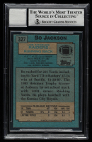 Bo Jackson Signed 1988 Topps #327 SR RC (BGS Encapsulated) at PristineAuction.com