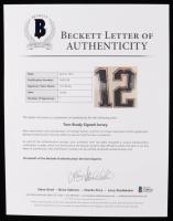 Tom Brady Signed 34.5x42.5 Custom Framed Jersey Display (Beckett LOA & TriStar Hologram) at PristineAuction.com