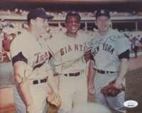 Harmon Killebrew, Willie Mays & Mickey Mantle Signed 8x10 Photo (JSA LOA) at PristineAuction.com