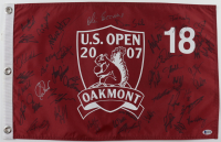 2007 U.S. Open Field Flag Signed by (45) with Scott Verplank, Tom Pernice Jr., Steve Ellington, Ken Duke, Fred Funk (Beckett LOA) at PristineAuction.com