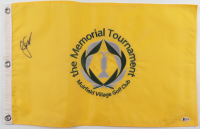 Jack Nicklaus Signed Memorial Tournament Pin Flag (Beckett LOA) at PristineAuction.com