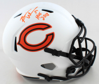 "Brian Urlacher Signed Bears Full-Size Lunar Eclipse Alternate Speed Helmet Inscribed ""HOF 2018"" (Beckett COA) at PristineAuction.com"