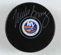 Mike Bossy Signed Islanders Logo Hockey Puck (JSA COA) at PristineAuction.com