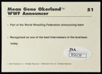 """Mean"" Gene Okerlund Signed 1990 Classic WWF #51 (JSA COA) at PristineAuction.com"