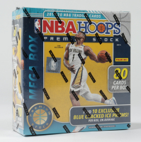 2019 / 20 Panini Hoops Premium Stock Basketball Mega Box (80) Cards (Blue Prizms) with (10) Packs at PristineAuction.com