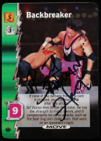 "Bret ""Hitman"" Hart Signed 2000 Wizards of the Coast WCW Nitro 1st Edition #8 Backbreaker U (JSA COA) at PristineAuction.com"
