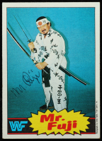 Mr. Fuji Signed 1985 Topps WWF #17 (JSA COA) at PristineAuction.com