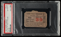 Vintage 1924 Negro League Baseball Game Ticket (PSA Authentic) at PristineAuction.com