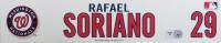 Rafael Soriano Nationals 2013 Game-Used Locker Room Nameplate (MLB Hologram) at PristineAuction.com