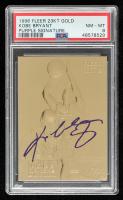 Kobe Bryant 1996-97 Fleer 23KT Gold Rookie Signatures Purple RC (PSA 8) at PristineAuction.com
