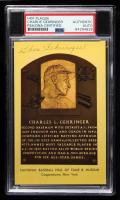 Charlie Gehringer Signed Gold Hall of Fame Plaque Postcard (PSA Encapsulated) at PristineAuction.com