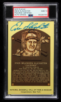 Enos Slaughter Signed Gold Hall of Fame Plaque Postcard (PSA Encapsulated) at PristineAuction.com