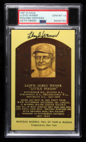 Lloyd Waner Signed Gold Hall of Fame Plaque Postcard (PSA Encapsulated) at PristineAuction.com