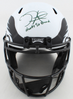 "Jalen Hurts Signed Eagles Full-Size Lunar Eclipse Alternate Speed Helmet Inscribed ""Hurts So Good"" (JSA COA) at PristineAuction.com"