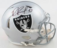 Bill Romanowski Signed Raiders Full-Size Authentic On-Field Speed Helmet (Beckett COA) at PristineAuction.com