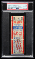 1976 Yankees vs. Twins Ticket Stub (PSA Encapsulated) at PristineAuction.com