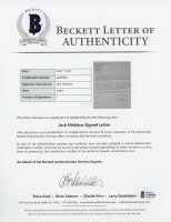 Jack Nicklaus Signed 7.25x10.5 Letter (Beckett LOA) at PristineAuction.com