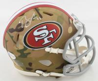 Brandon Aiyuk Signed 49ers Camo Alternate Speed Mini Helmet (Beckett COA) at PristineAuction.com