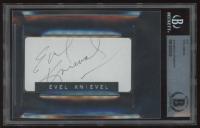 Evel Knievel Signed 3x4 Cut (BAS Encapsulated) at PristineAuction.com