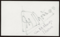 "General Manuel Noriega Signed 3x5 Index Card Inscribed ""Panama"" (JSA ALOA) at PristineAuction.com"