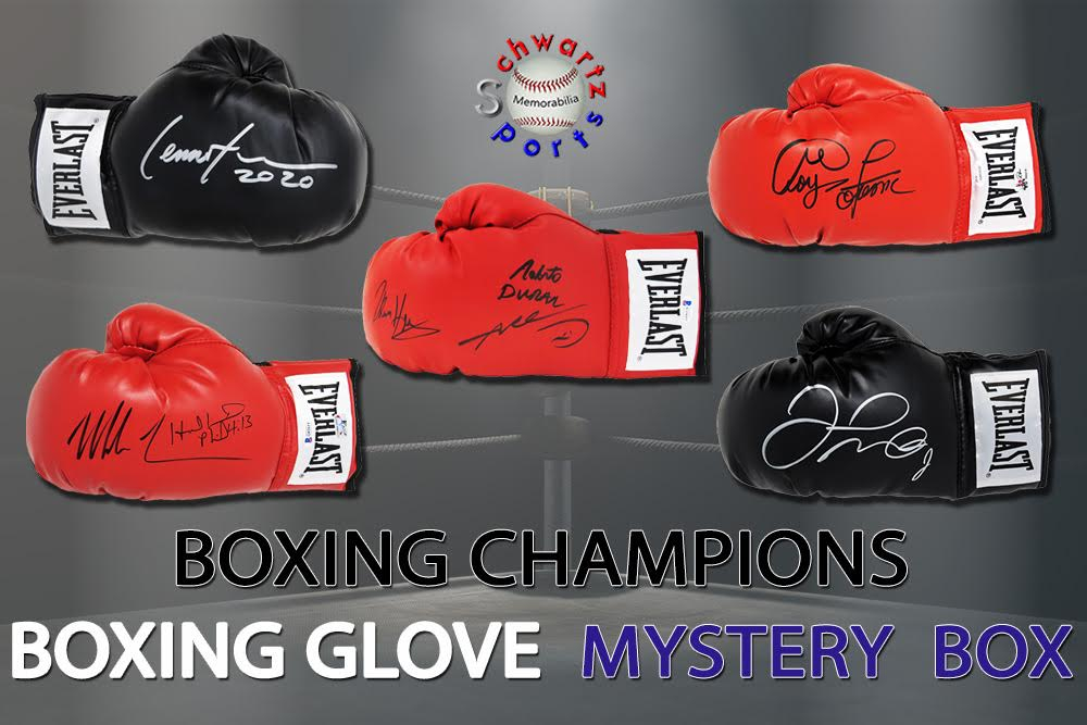Schwartz Sports Boxing Champions Signed Boxing Glove Mystery Box - Champions Edition Series 3 (Limited to 75) at PristineAuction.com