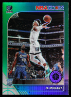 Ja Morant 2019-20 Hoops Premium Stock Prizms Green #259 RC at PristineAuction.com