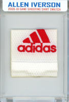 ALLEN IVERSON 2009-10 76ers GAME-WORN SHOOTING SHIRT MYSTERY SWATCH BOX! at PristineAuction.com