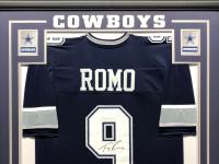 Tony Romo Signed 34.5x42.5 Custom Framed Jersey (Beckett COA) at PristineAuction.com