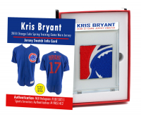KRIS BRYANT 2018 CUBS SPRING TRAINING GAME-WORN JERSEY MYSTERY SWATCH BOX! at PristineAuction.com