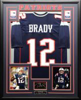 Tom Brady 34.5x42.5 Custom Framed Jersey at PristineAuction.com