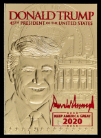 Donald Trump 2017 Merrick Mint 23kt Gold Card - Red at PristineAuction.com