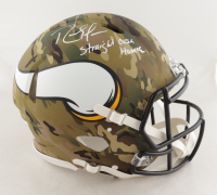 "Randy Moss Signed Vikings Full-Size Authentic On-Field Camo Alternate Speed Helmet Inscribed ""Straight Cash Homie"" (Beckett COA) at PristineAuction.com"