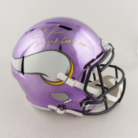 "Randy Moss Signed Minnesota Vikings Full-Size Chrome Speed Helmet Inscribed ""Straight Cash Homie"" (Beckett COA) (See Description) at PristineAuction.com"