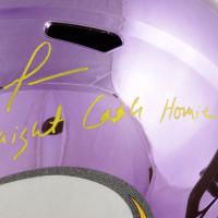 "Randy Moss Signed Minnesota Vikings Full-Size Chrome Speed Helmet Inscribed ""Straight Cash Homie"" (Beckett COA) (See Description) at PristineAuction.com"
