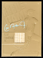 Cal Ripken Jr. 2000 Feel The Game 23 KT Gold Card with Piece of Bat at PristineAuction.com