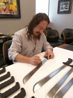 "Ari Lehman Signed ""Friday the 13th"" Genuine 22"" Steel Machete Inscribed ""Freddy Sucks!"" & ""The OG Jason"" (PA COA) at PristineAuction.com"