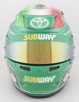 Daniel Suarez Race-Used NASCAR Subway Helmet (JGR LOA & PA COA) at PristineAuction.com