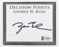"George W. Bush Signed ""Decision Points"" Book Plate (Beckett LOA) at PristineAuction.com"