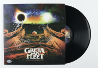 "Greta Van Fleet ""Anthem of the Peaceful Army"" Vinyl Record Album Cover Band-Signed by (4) with Josh Kiszka Jake Kiszka, Sam Kiszka & Danny Wagner (Beckett LOA) (See Description) at PristineAuction.com"