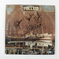 "The Beach Boys ""Holland"" Vinyl Record Album Cover Signed by (4) with Blondie Chaplin, Al Jardine, Bruce Johnston, & Mike Love (Beckett LOA) (See Description) at PristineAuction.com"