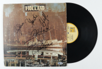 """The Beach Boys """"Holland"""" Vinyl Record Album Cover Signed by (4) with Blondie Chaplin, Al Jardine, Bruce Johnston, & Mike Love (Beckett LOA) (See Description) at PristineAuction.com"""