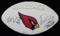 Cardinals Logo Football Signed by (12) with J.J. Nelson, Drew Stanton, Tyrann Mathieu, Patrick Peterson, David Johnson, Markus Golden (Beckett LOA) at PristineAuction.com