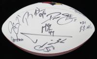 Cardinals Logo Football Signed by (12) with J.J. Nelson, Drew Stanton, Tyrann Mathieu, Patrick Peterson, David Johnson, Markus Golden (Beckett LOA) at PristineAuction.com
