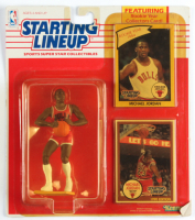 Michael Jordan Bulls Starting Lineup Action Figurine with (2) Sealed Trading Cards (See Description) at PristineAuction.com