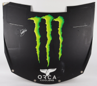 Ty Gibbs Signed Race-Used Monster Energy NASCAR Hood (JGR LOA & PA COA) at PristineAuction.com