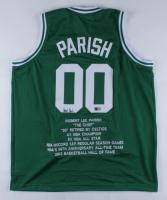 Robert Parish Signed Career Highlight Stat Jersey (TriStar Hologram) at PristineAuction.com